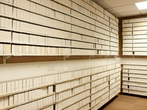 Microfilm archives interior